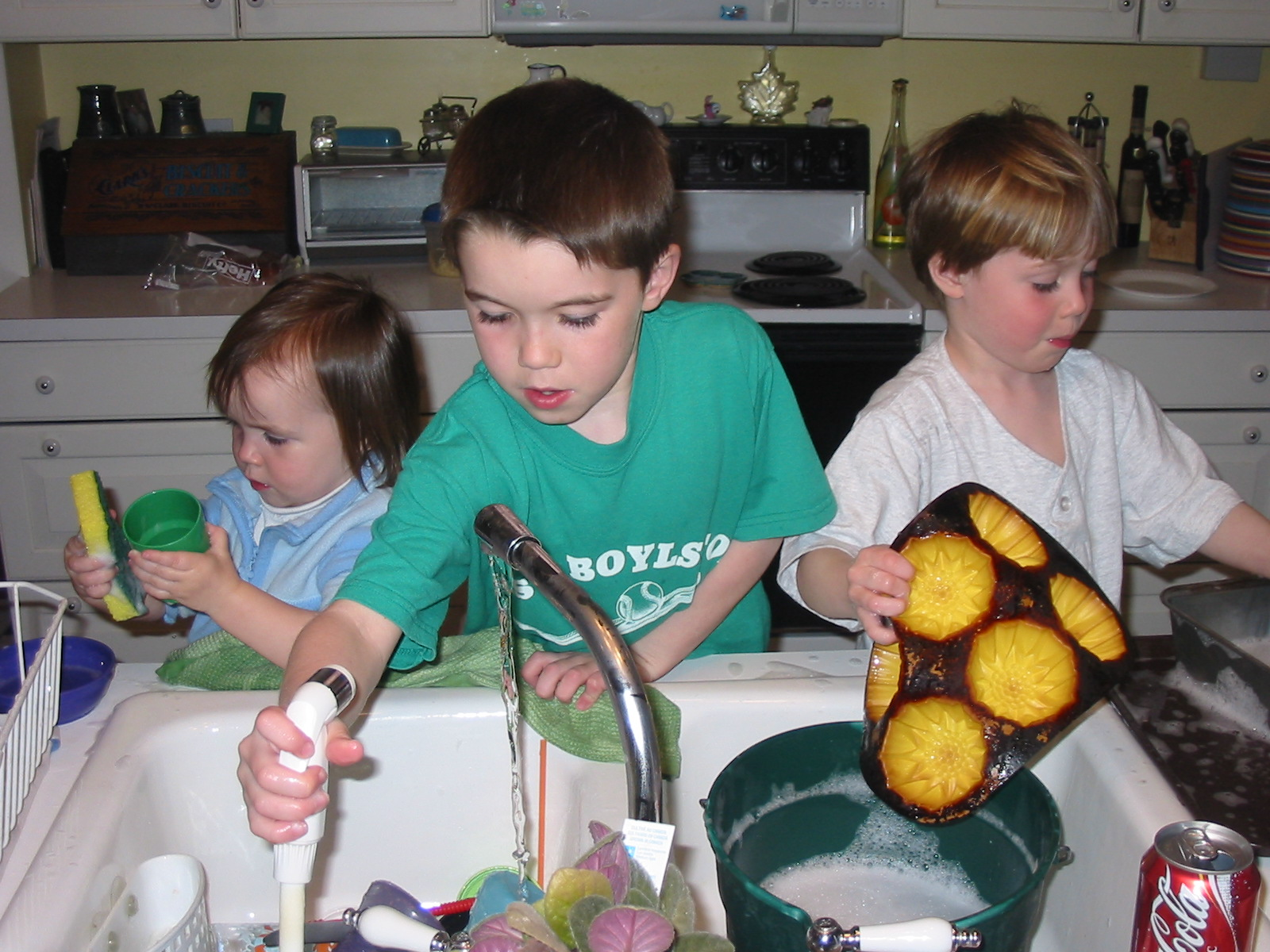 Three Kids Helping